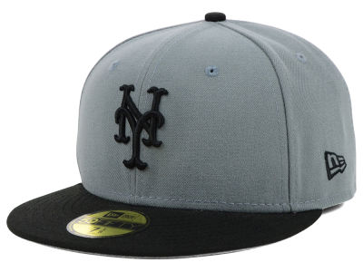 New York Mets New Era MLB FC Gray Black 59FIFTY Cap