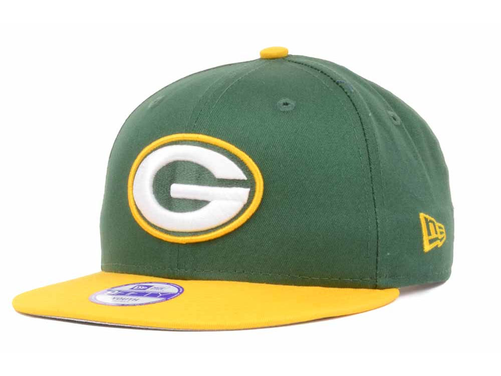 promo code 75033 84a82 ... logo surge 39thirty cap outlet sale cb979 6ccda  low price green bay  packers new era nfl kids baycik 9fifty snapback cap lids d1403 c753a
