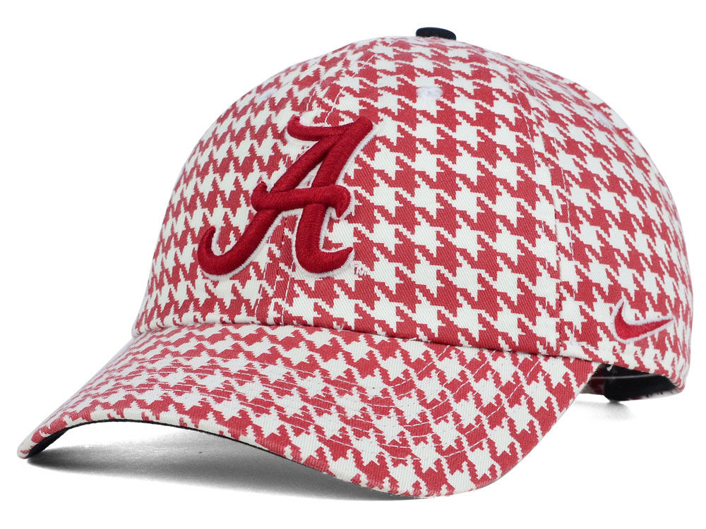 39296d1a8f9 ... cheap alabama crimson tide nike ncaa houndstooth adjustable hat 8752b  7d5a5