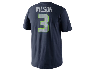 Seattle Seahawks Russell Wilson Nike NFL Pride Name and Number T-Shirt