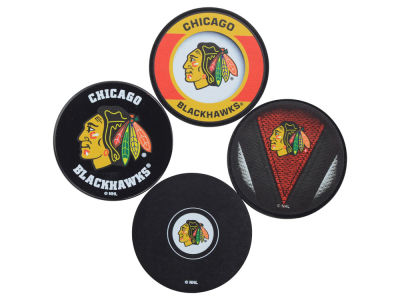 Chicago Blackhawks Puck Coasters