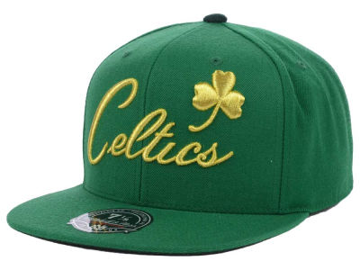 Boston Celtics Mitchell and Ness NBA TC Metallic Fitted Cap