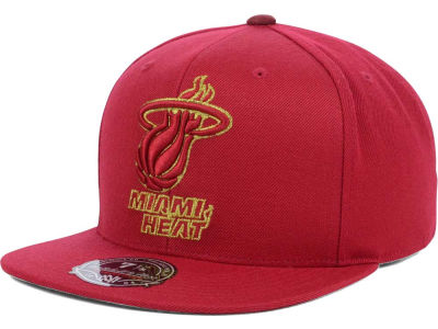 Miami Heat Mitchell and Ness NBA TC Metallic Fitted Cap