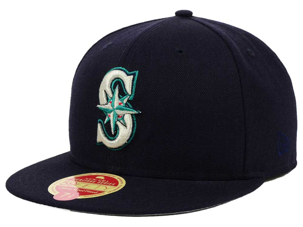 Seattle Mariners New Era MLB Wool Classic 59FIFTY Cap  bb07f0630