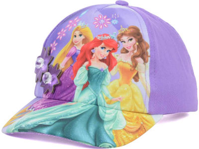 Princess Flower Applique Baseball Toddler Cap