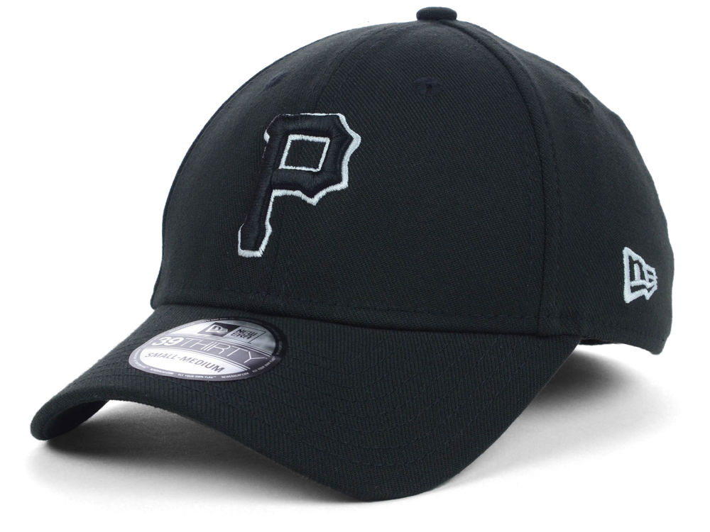 Pittsburgh Pirates New Era MLB Black White Classic 39THIRTY Cap ... f785463d3ce9