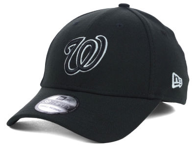 Washington Nationals New Era MLB Black White Classic 39THIRTY Cap