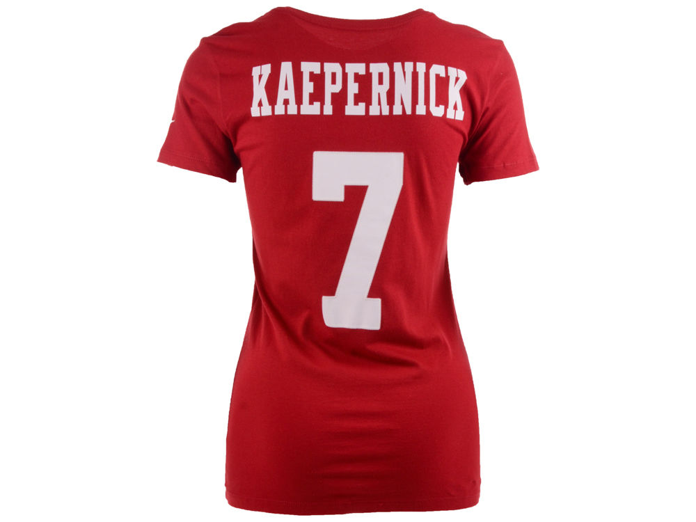 San Francisco 49ers Colin Kaepernick Nike NFL Women s Player Pride T-Shirt   9e5a277b1