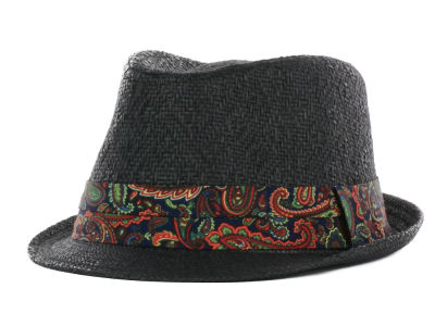 LIDS Private Label PL Patterned Fedora w/ Paisley Band
