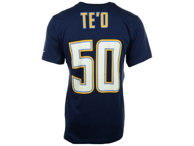 Los Angeles Chargers Manti Te'o Nike NFL Pride Name and Number T-Shirt