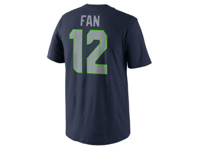 Seattle Seahawks Fan #12 Nike NFL Pride Name and Number T-Shirt