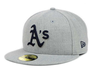 Oakland Athletics New Era MLB Heather Basic 59FIFTY Cap