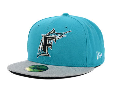 Florida Marlins New Era MLB Team Heather 59FIFTY Cap