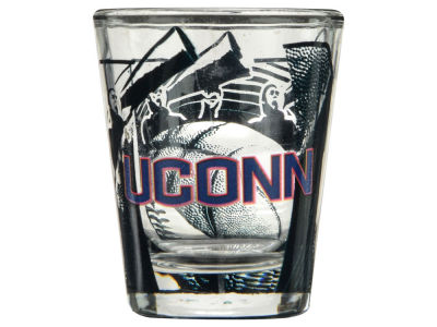 Connecticut Huskies 3D Wrap Color Collector Glass