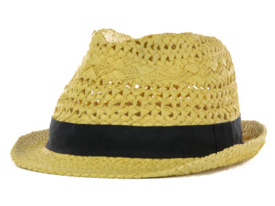 LIDS Private Label PL Open Weave Basic Straw Fedora