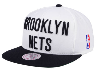 Brooklyn Nets Mitchell & Ness NBA XL Logo Snapback Cap