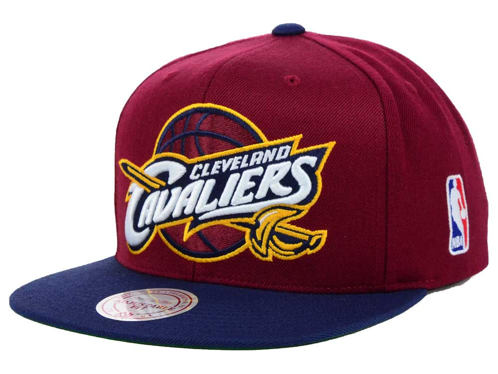 Cleveland Cavaliers Mitchell   Ness NBA XL Logo Snapback Cap  980feff29941