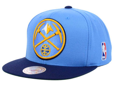 Denver Nuggets Mitchell and Ness NBA XL Logo Snapback Cap