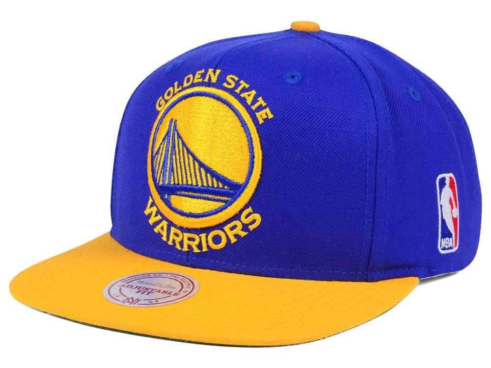 Golden State Warriors Mitchell   Ness NBA XL Logo Snapback Cap ... 6e19e9169