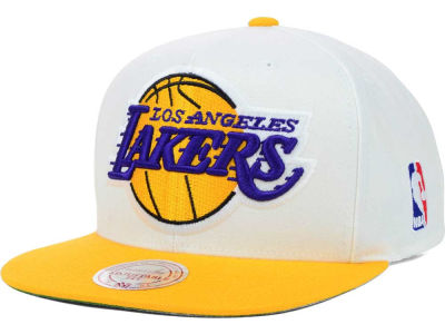 Los Angeles Lakers Mitchell and Ness NBA XL Logo Snapback Cap