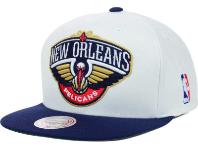 New Orleans Pelicans Mitchell and Ness NBA XL Logo Snapback Cap