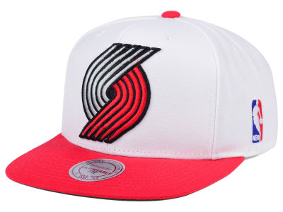 Portland Trail Blazers Mitchell and Ness NBA XL Logo Snapback Cap