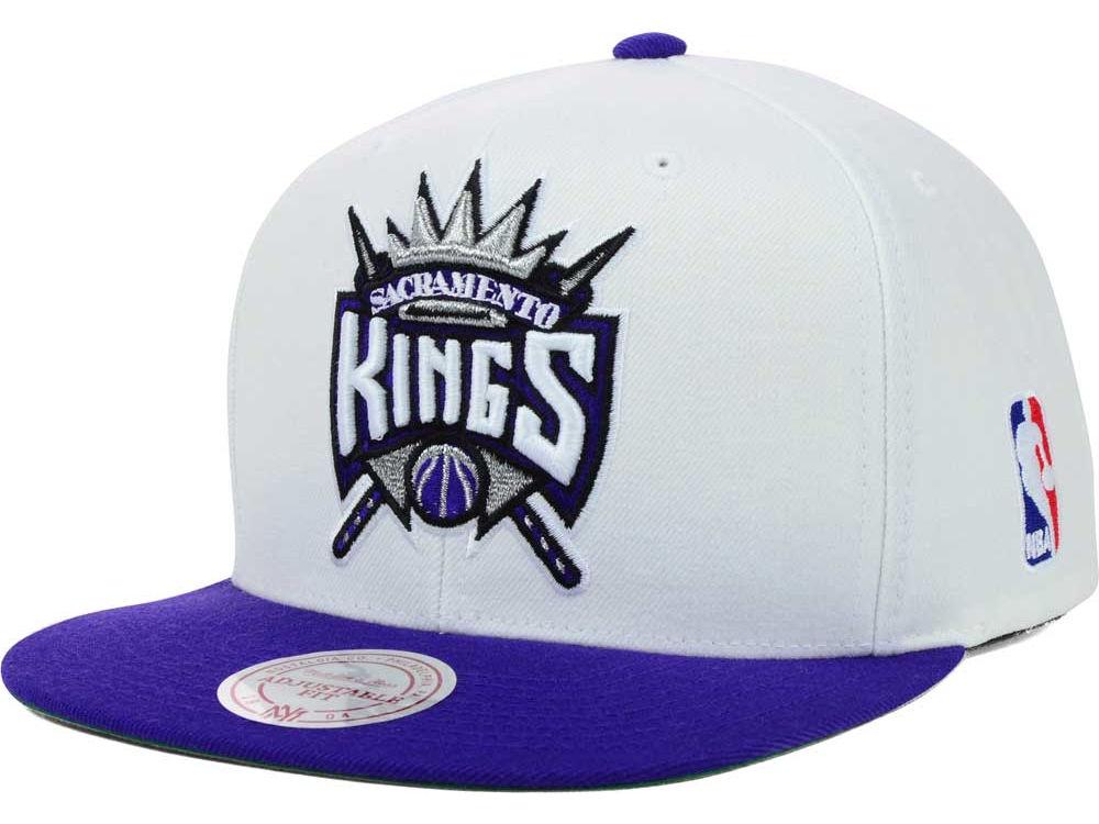 quality design bec49 0a615 ... Sacramento Kings Mitchell Ness NBA XL Logo Snapback Cap ...
