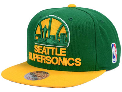 Seattle SuperSonics Mitchell & Ness NBA XL Logo Snapback Cap