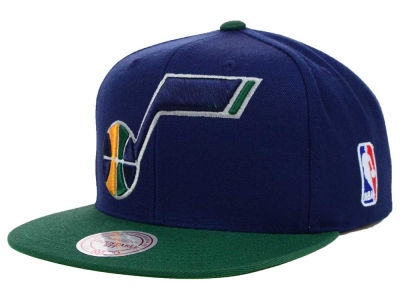 Utah Jazz Mitchell and Ness NBA XL Logo Snapback Cap