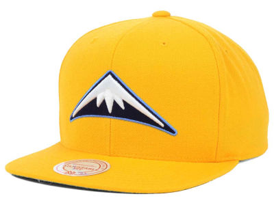 Denver Nuggets Mitchell and Ness NBA Solid Snapback Cap