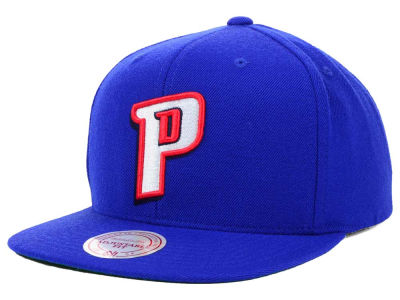 Detroit Pistons Mitchell and Ness NBA Solid Snapback Cap