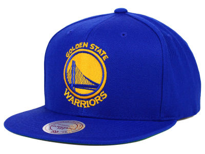 Golden State Warriors Mitchell and Ness NBA Solid Snapback Cap