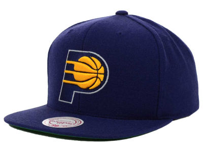 Indiana Pacers Mitchell and Ness NBA Solid Snapback Cap