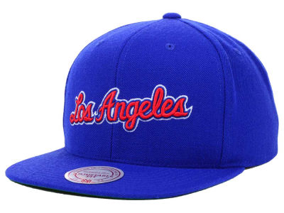 Los Angeles Clippers Mitchell and Ness NBA Solid Snapback Cap
