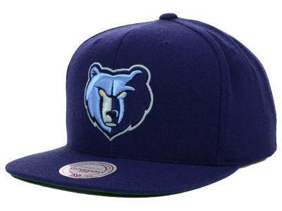 Memphis Grizzlies Mitchell and Ness NBA Solid Snapback Cap