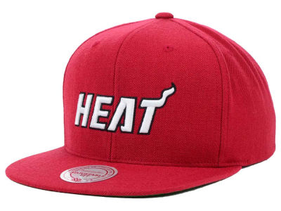 Miami Heat Mitchell and Ness NBA Solid Snapback Cap