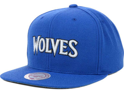 Minnesota Timberwolves Mitchell and Ness NBA Solid Snapback Cap
