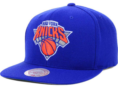 New York Knicks Mitchell and Ness NBA Solid Snapback Cap