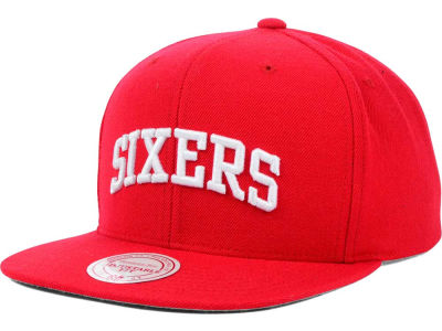 Philadelphia 76ers Mitchell and Ness NBA Solid Snapback Cap
