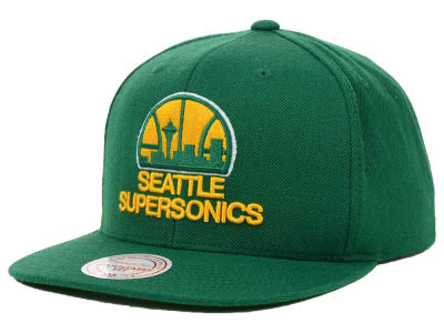 Seattle SuperSonics Mitchell and Ness NBA Solid Snapback Cap