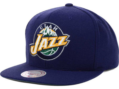 Utah Jazz Mitchell and Ness NBA Solid Snapback Cap