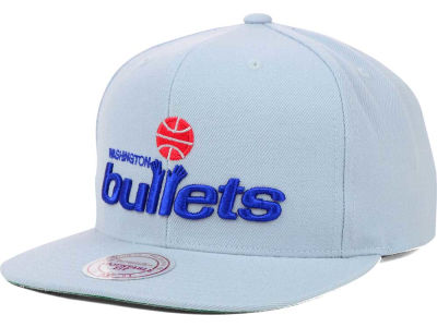 Washington Bullets Mitchell and Ness NBA Solid Snapback Cap