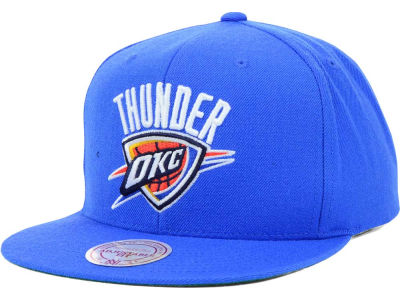 Oklahoma City Thunder Mitchell and Ness NBA Solid Snapback Cap