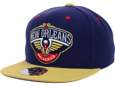 New Orleans Pelicans Mitchell and Ness NBA 2-Tone High Crown Fitted Cap