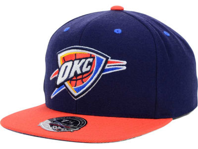 Oklahoma City Thunder Mitchell and Ness NBA 2-Tone High Crown Fitted Cap