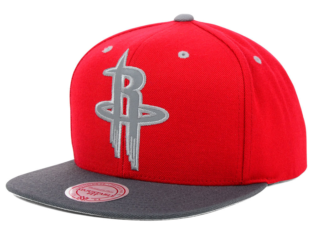 89c22d28a Houston Rockets Mitchell   Ness NBA XL Reflective 2 Tone Snapback ...