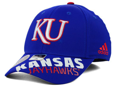Kansas Jayhawks adidas NCAA 2014 Player Flex Hat