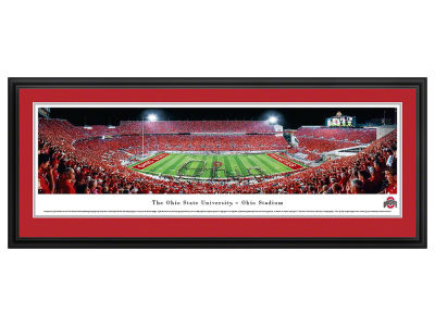Ohio State Buckeyes Panoramic Deluxe Framed