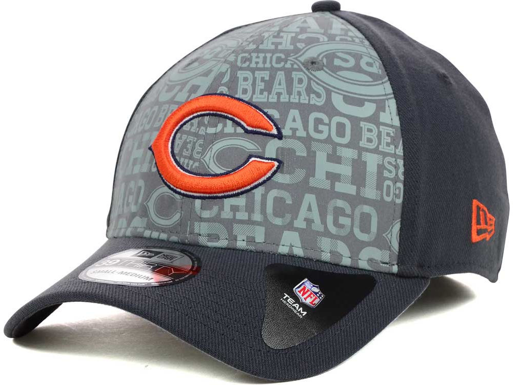 Chicago Bears New Era NFL 2014 Draft Graphite XP 39THIRTY Cap  9363bbce7
