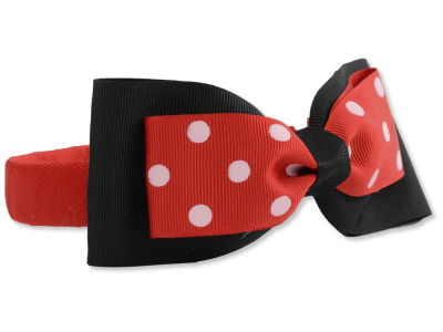 Louisville Cardinals Headband with Dot Bow